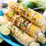 Grilled Corn with Chipotle Cream