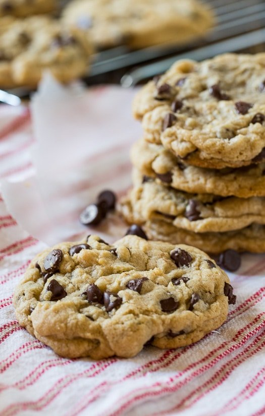 Chewy Chocolate Chip Cookies. These cookies cook up soft, but chewy in big, perfectly shaped rounds.