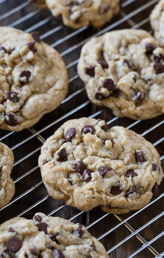 Bakery-style Chocolate Chip Cookies that bake up soft and chewy.