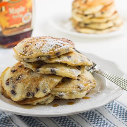 Sour Cream Chocolate Chip Pancakes