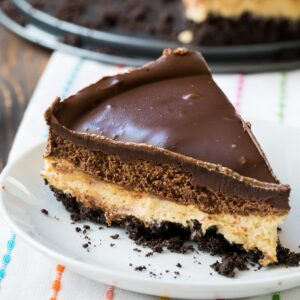 Chocolate and Peanut Butter Mousse Cheesecake