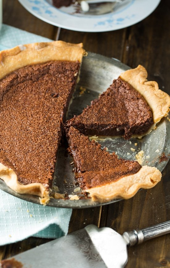 Chocolate Chess Pie - Spicy Southern Kitchen