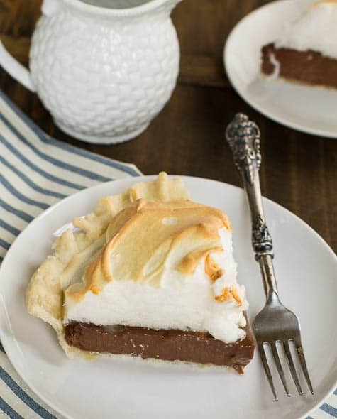 Old Fashioned Chocolate Cream Pie With Meringue