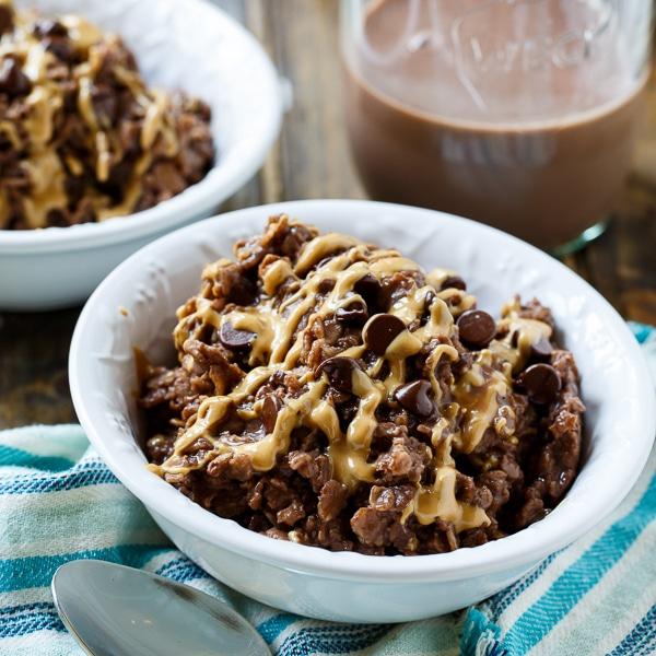 Chocolate-Peanut Butter Oatmeal