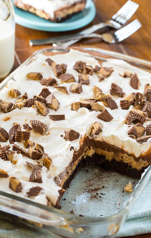 Chocolate Peanut Butter Layer Dessert - Spicy Southern Kitchen