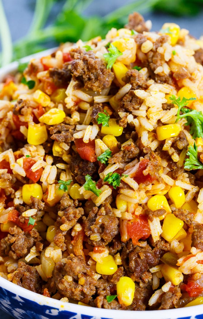 Mexican Chorizo Rice makes a great side for tacos or burritos
