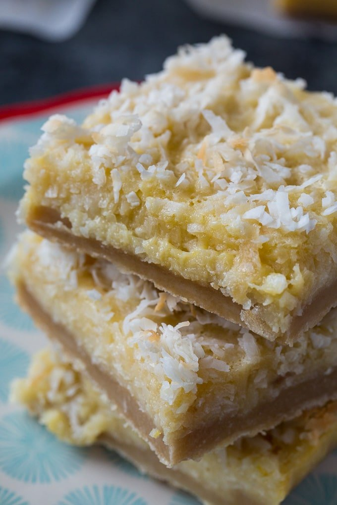 Easy Buttery Coconut Bars