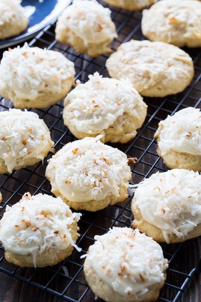 Coconut Clouds with browned butter frosting