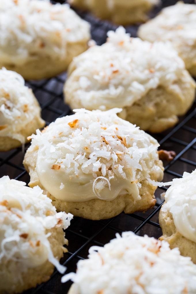 Coconut Clouds- cake-like cookies flavored with coconut