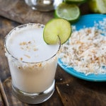Coconut Margaritas- thick, creamy, and super easy to make!
