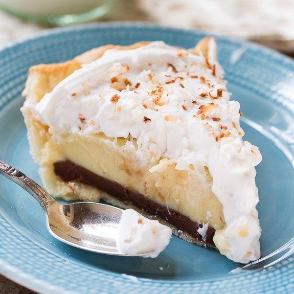Black Bottom Coconut Pie