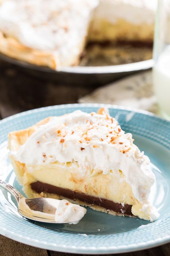 Black Bottom Coconut Cream Pie - Spicy Southern Kitchen