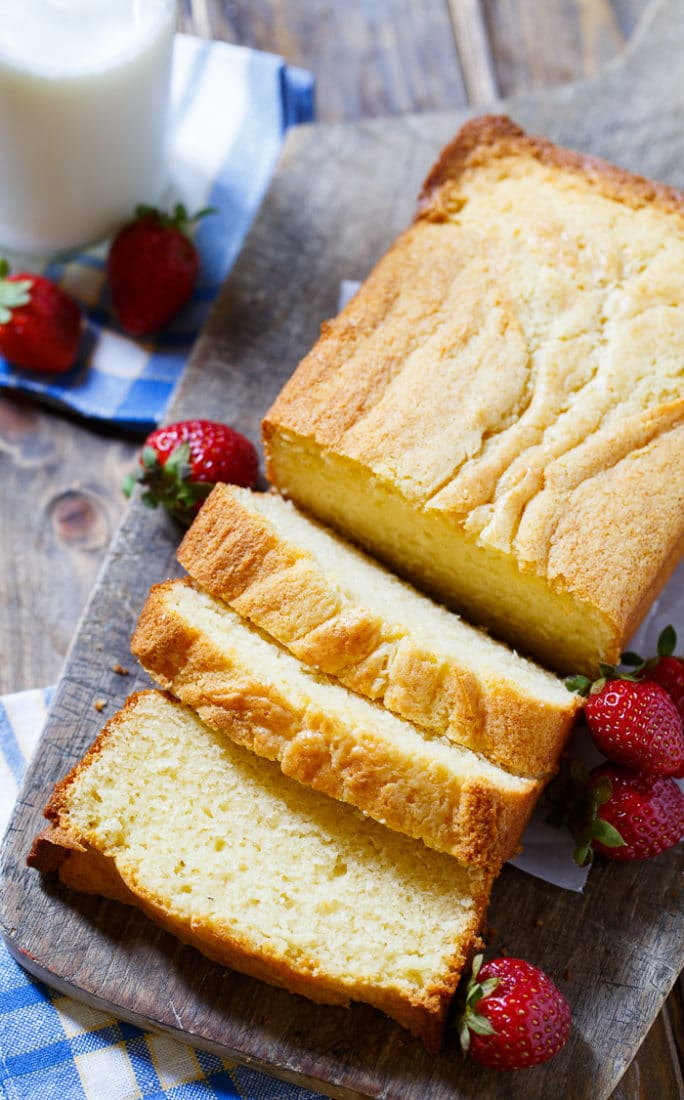 Sweetened Condensed Milk Pound Cake is wonderfully moist and tender.