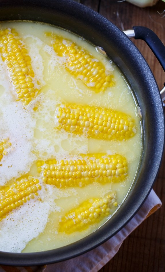 Best Way to Cook Corn - boiled with 1 stick of butter and 1 cup of milk. Most delicious corn ever!