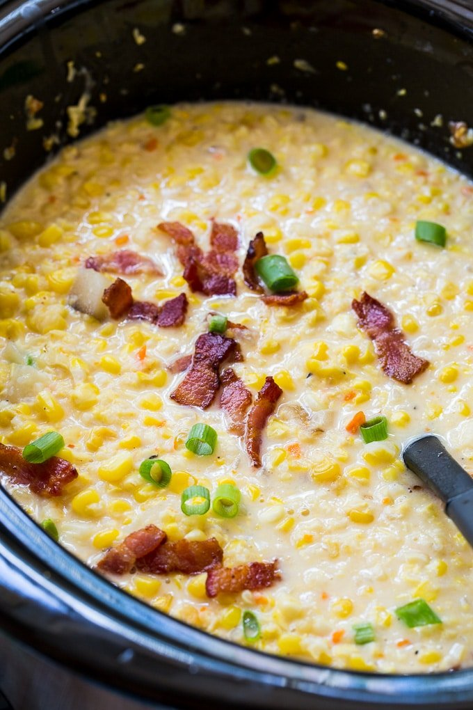 Corn Chowder made in the slow cooker