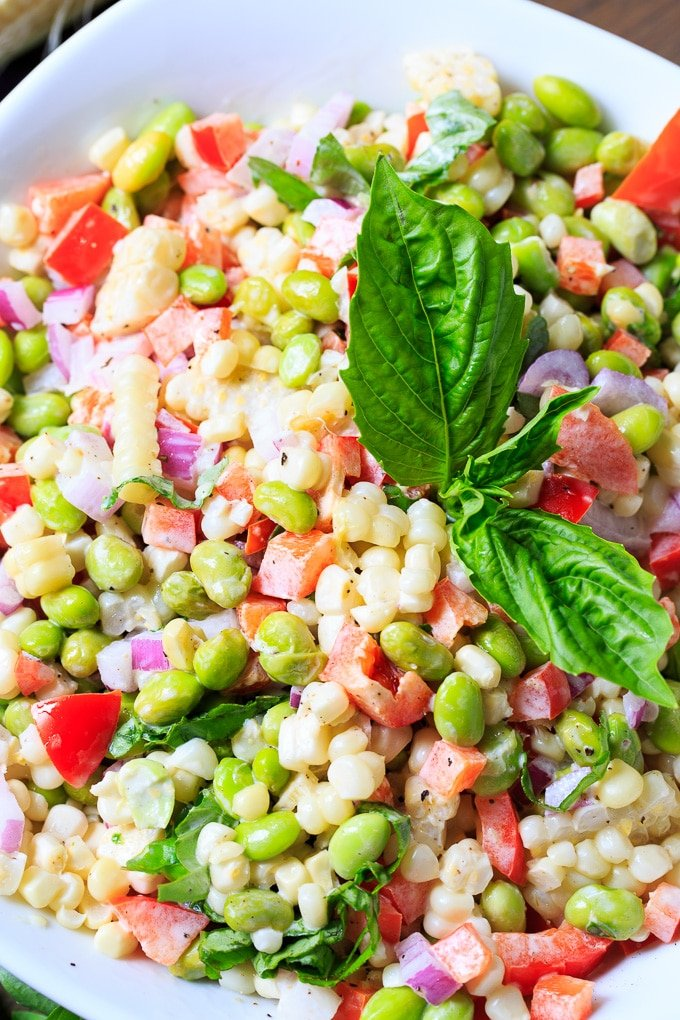 Roasted Corn and Edamame Salad