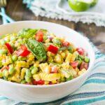Roasted Corn Edamame Salad