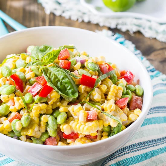 Roasted Corn and Edamame Salad - Spicy Southern Kitchen
