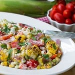 Grilled Corn and Butter Bean Salad