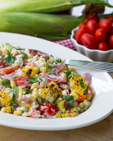 Grilled Corn and Butter Bean Salad - Spicy Southern Kitchen