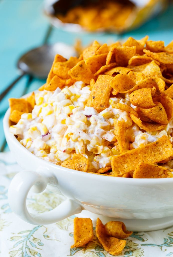 Frito Corn Salad- so easy to make and perfect for potlucks, picnics, and cookouts.