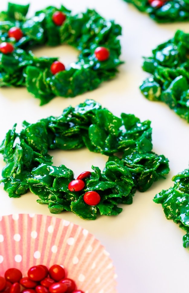 Cornflake Christmas Wreaths - Spicy Southern Kitchen