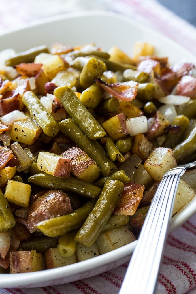 Country Ranch Green Beans and Potatoes with bacon