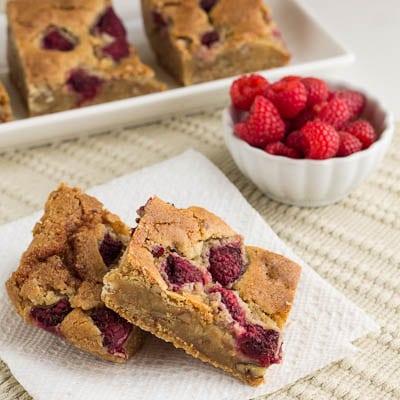 Raspberry-Pecan Blondies - Spicy Southern Kitchen