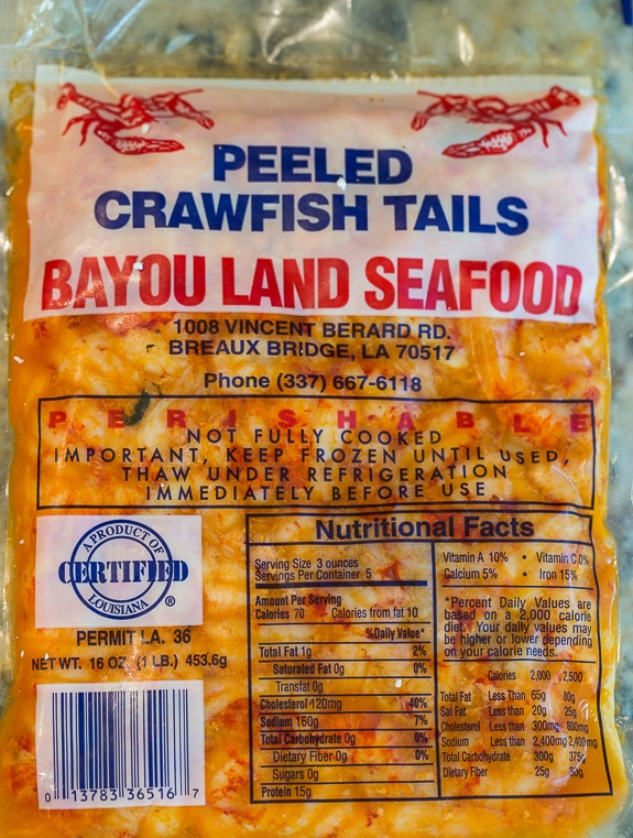 Frozen Crawfiah Tails - Louisiana Seafood