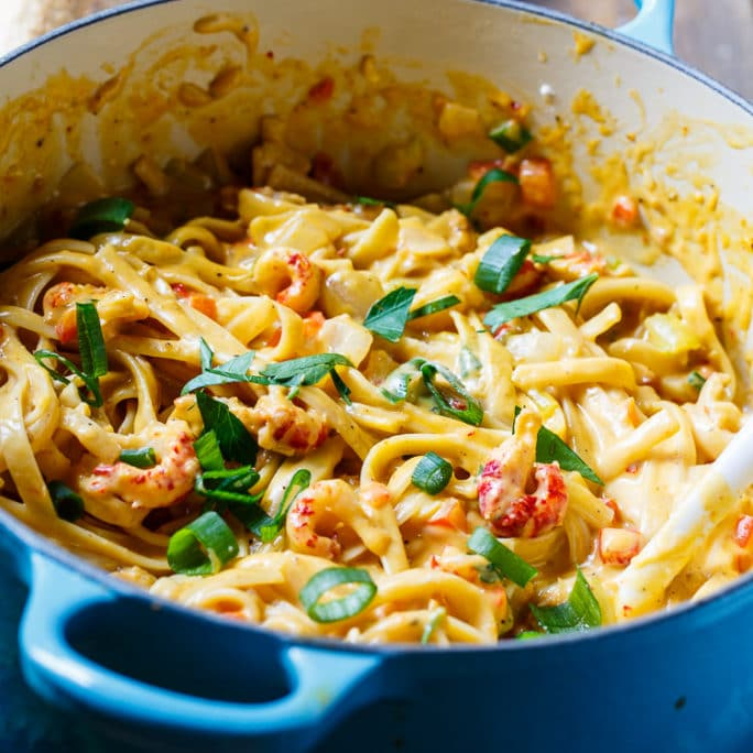 Creamy Crawfish Fettuccine