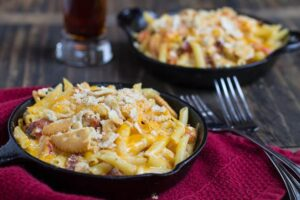 Cajun Mac and Cheese with Crawfish and Andouille Sausage
