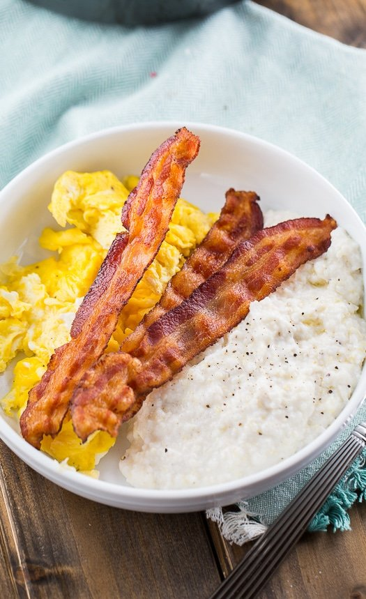 Cream Cheese Grits - super rich and creamy!