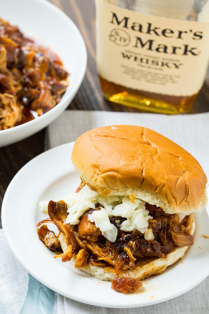 Crock Pot Bourbon Bacon Pulled Pork
