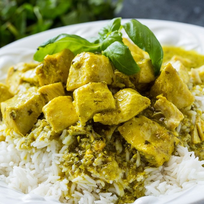 Crock Pot Basil Coconut Curry