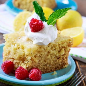 Slow Cooker Lemon Cake. This crock pot cake is moist and has lots of fresh lemon flavor.