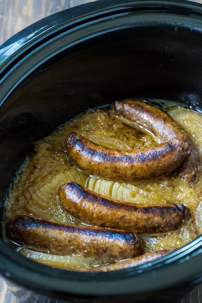 Crock Pot Reuben Brats recipe