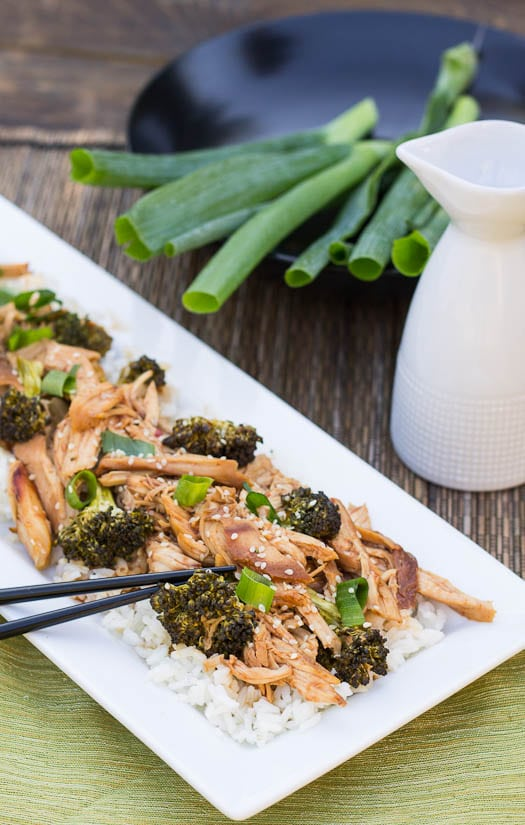 Crockpot Honey Soy Chicken with Broccoli