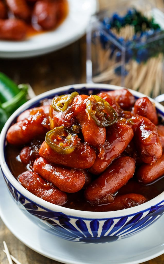 Crock Pot Little Smokies- the easiest appetizer ever. Great for holiday parties!