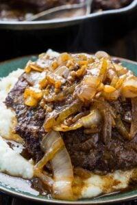 Cubed Steak with Onion Gravy