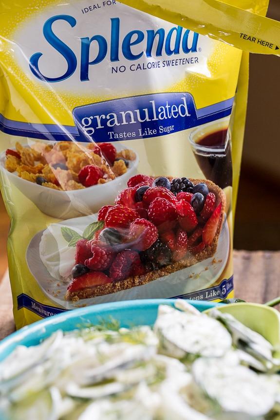 Southern Creamy Cucumbers #SplendaSweeties #SweetSwaps