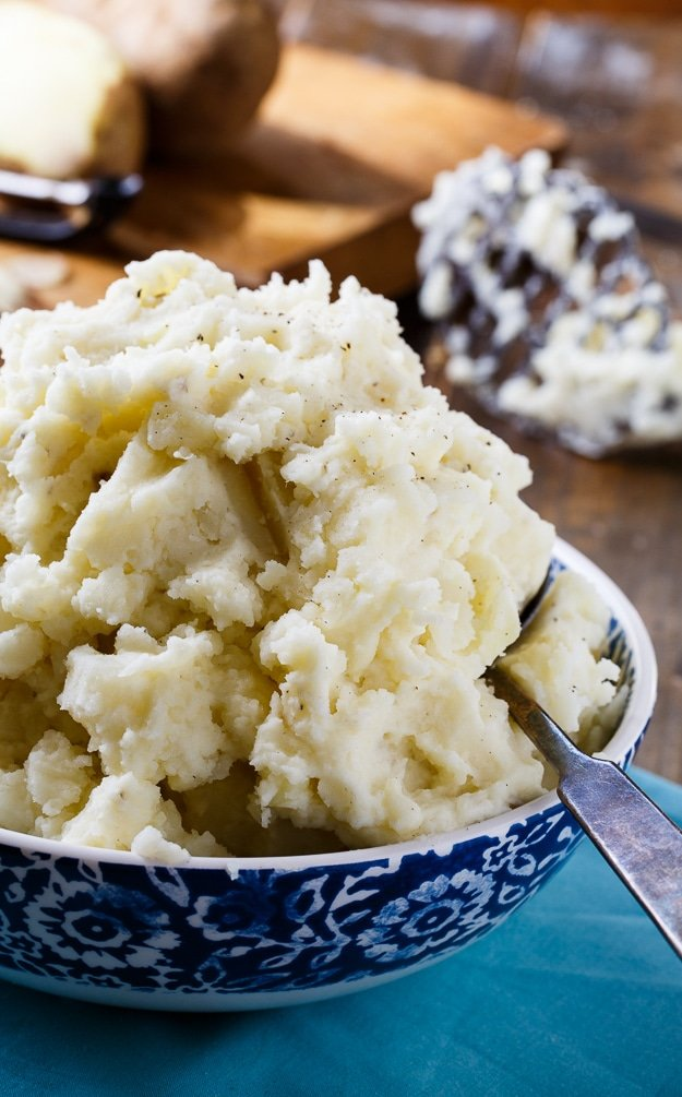 Dukes Mayonnaise makes these mashed potatoes super creamy and delicious!