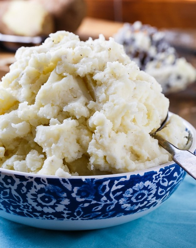 Dukes Mayonnaise Mashed Potatoes. Mayonnaise makes these mashed potatoes super creamy and delicious!