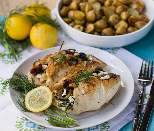 Chicken stuffed with feta and chicken