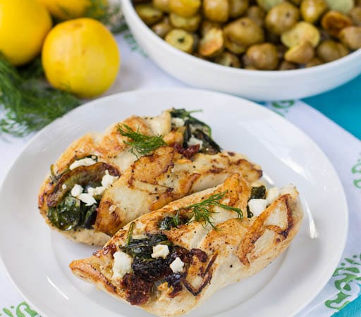 Spinach-Feta Stuffed Chicken