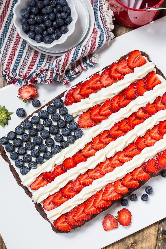 Flag Brownies make a patriotic dessert for the 4th of July