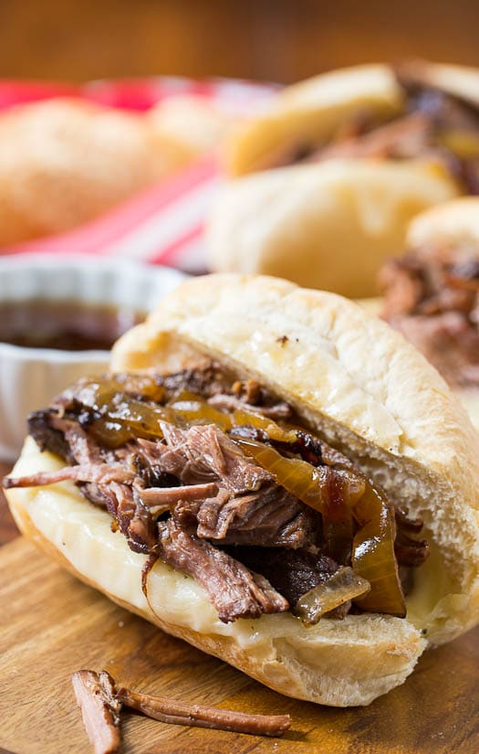 Slow Cooker French Dip Sandwich - so easy and flavorful!
