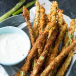 Deep fried Asparagus
