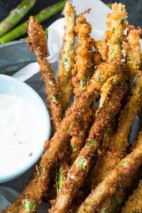 Deep fried Asparagus