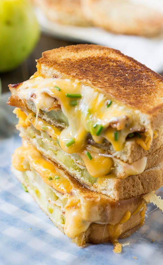 Fried Green Tomato and Bacon Grilled Cheese