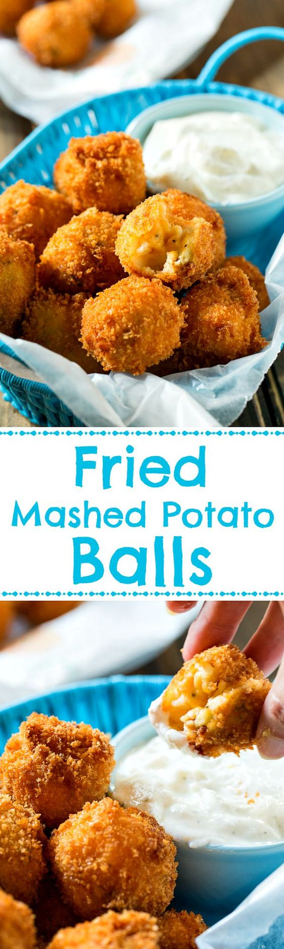 Fried Mashed Potato Balls - great for using up Thanksgiving leftovers!